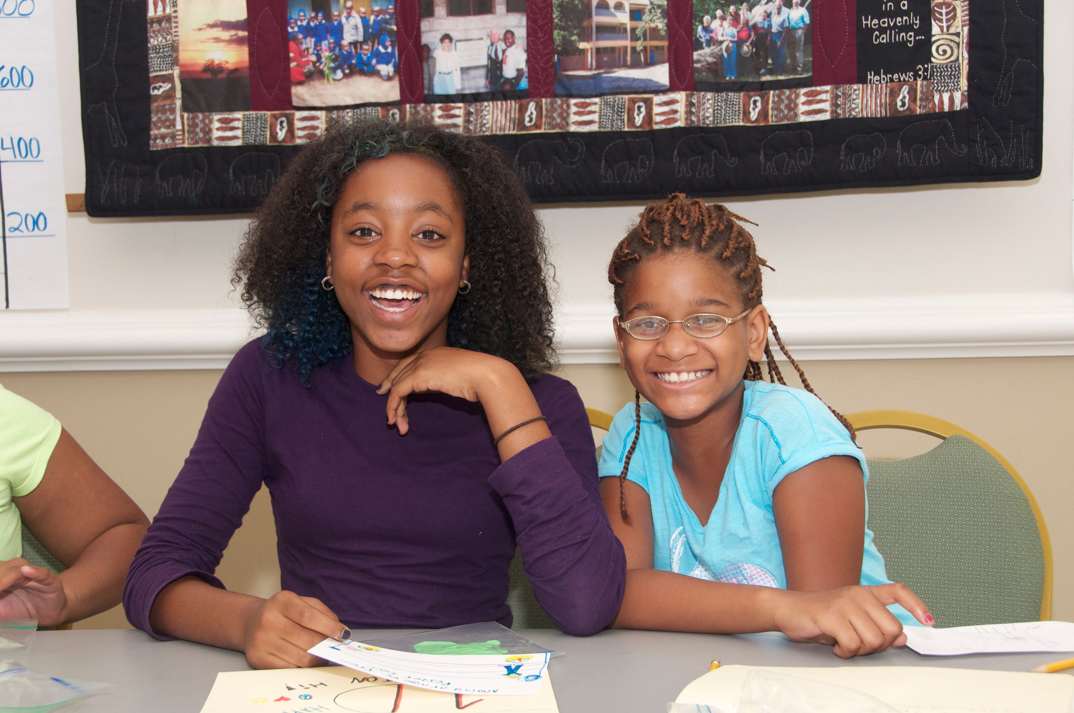 Davidson student works with Freedom Schools student