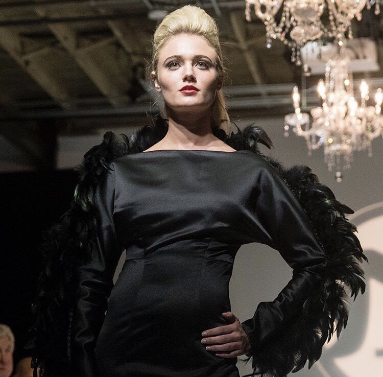Erica Miller walks the runway