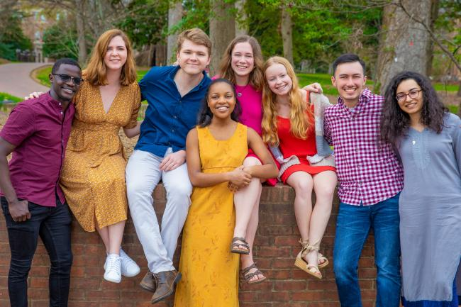Group of Belk Scholars Gathered on Campus