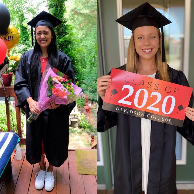 two graduates of the 2020 class