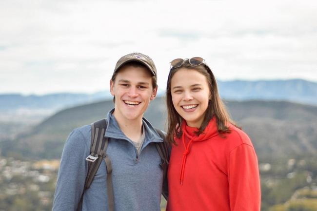 Two students abroad in Spain