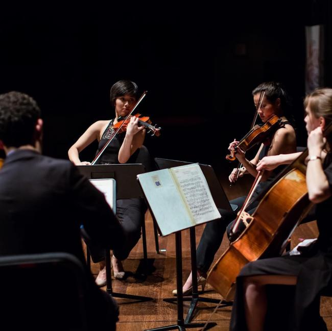 Quartet Amí does not hold back when they do chamber music
