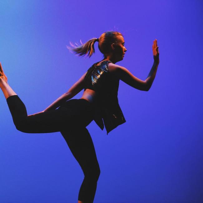 dancer performing a movement
