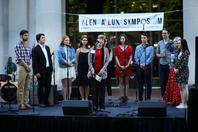 he Alenda Lux Symposium, an all-campus celebration of community-based learning