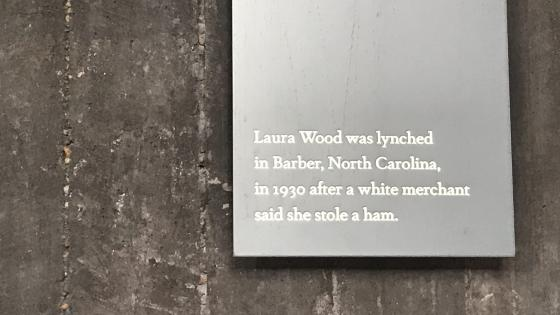 Quote on monument about woman who was lynched for stealing a ham
