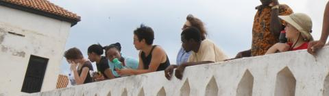 Students on the Davidson in Ghana program visit El Mina Castle