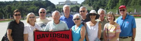 Davidson Travel Program Danube 2016 Alumni Holding Davidson Flag