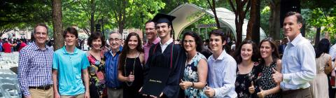 Davidson family at Commencement