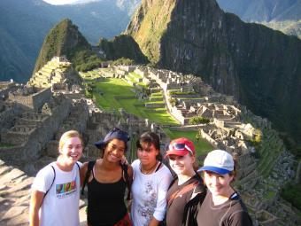 Students in Machu Picchu