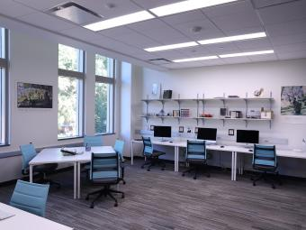 Image of newly built psychology lab