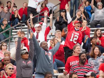 Davidson Alumni and Sports Fans Celebrating.JPG