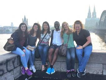 Prof Snyder w Students in Germany