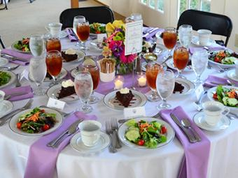 A table is set for a beautiful event