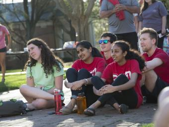 Students Enjoying Event on Campus