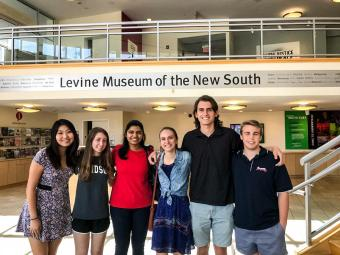 Education scholars group shot at the Levine Museum of the New South