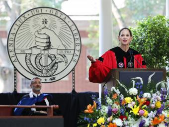 Carol Quillen Gives Speech at Commencement