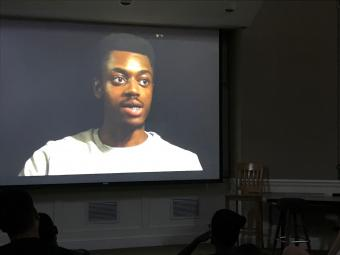 Lawrence King '19 on Screen Verna Miller Case Research and Creative Works Symposium