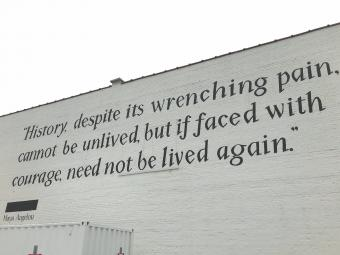 Maya Angelou Quote on Wall
