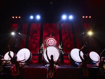 Yamato Drummers performing on stage