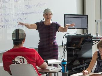 Prof. Shelley Rigger in Classroom