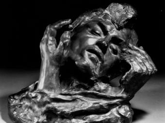 Rodin Sculpture: Head of Shade