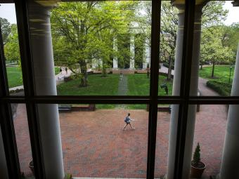 Views of Campus From Window of the Davidsoniana Room
