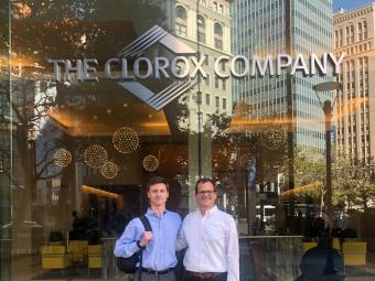 CJ Moeling and Jay Stilwell at Clorox2 Job Shadowing