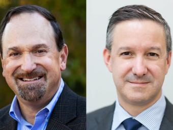 Chris Gruber, left, and Jeff Selingo, right, professional headshots
