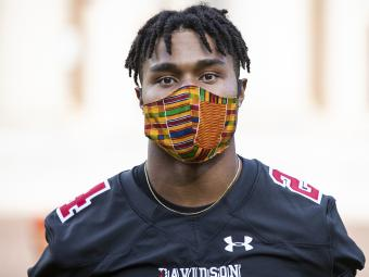 Social Justice Event - Football Player with Mask