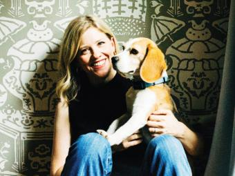 Mary Laura Philpott and her dog