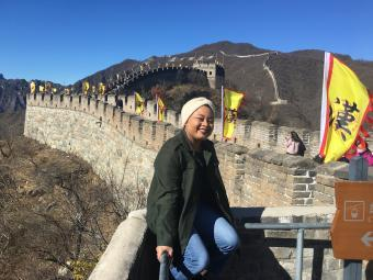 Lorena James at Great Wall of China