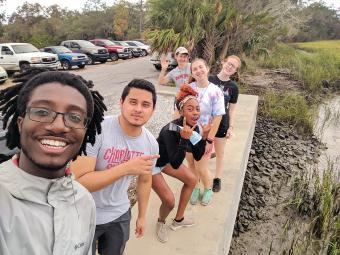 Victor-Alan Weeks and other students at Sapelo Island