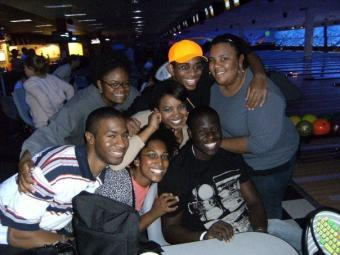 Goodson '11 with friends at a STRIDE outing in 2007