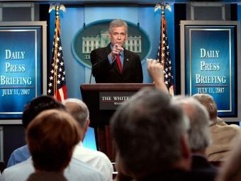 Tony Snow in White House daily press briefing