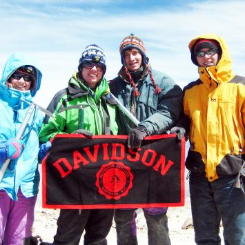 Education Abroad Peru Students w Davidson Banner